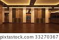 Loft Empty Room, 3d render interior design, mock up illustration 33270367