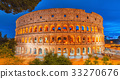 Beautiful landscape of the Colosseum in Rome 33270676