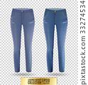 Blank leggings mockup set, blue and denim on 33274534