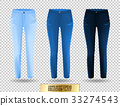 Blank leggings mockup set, blue and denim on 33274543