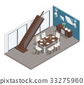 Dining Room Isometric Concept 33275960