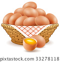 eggs in basket isolated on white 33278118