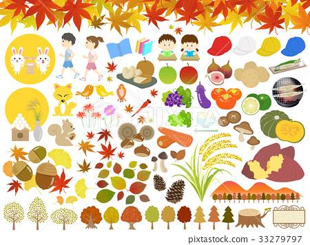 autumn, autumnal, vector 33279797