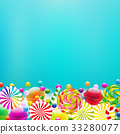 sweets, vector, lollipop 33280077