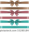 Pastel Color Bows Set 33280184