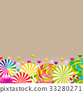 Sweet Shop Card With Color Lollypop Border 33280271