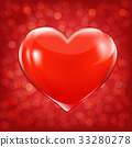 Valentines Day Card With Heart 33280278