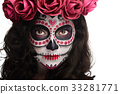 attractive skull face 33281771