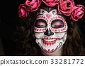 smiling skull face 33281772