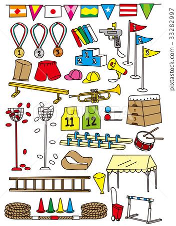Equipment of elementary school athletic meet 33282997