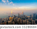 Hong kong downtown the famous cityscape view 33286684