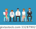 Business people waiting for job interview. 33287902