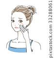 痘痘 脸颊 女性 33288061