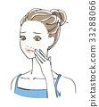 acne, female, lady 33288066