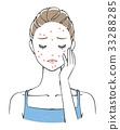 acne, skin trouble, beauty 33288285