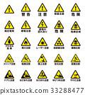 警告和警告圖標集 33288477