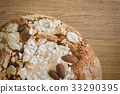Cake with Dried Fruits and Almond Nut 33290395