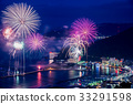 Atami of 1 million dollars night view and offshore fireworks 33291598