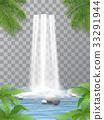 waterfall stones jungle 33291944