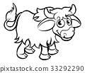 Yak Cartoon Character 33292290