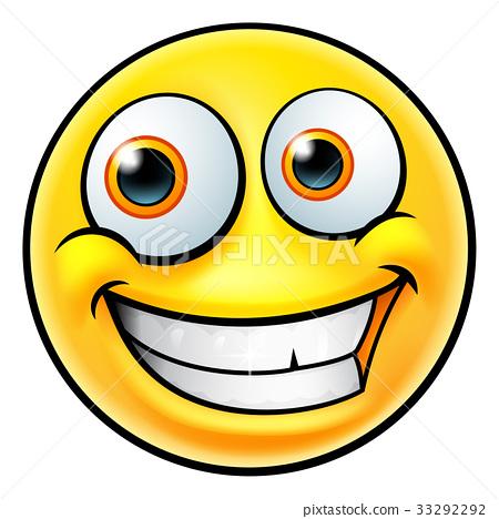 Happy Emoji Emoticon Stock Illustration 33292292 Pixta