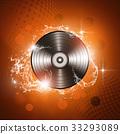 Music Vinyl Red Background 33293089