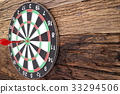 Red dart arrow hitting in the target  33294506
