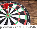 Red dart arrow hitting in the target  33294507