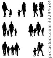 silhouettes of families 33294634