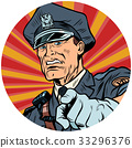 points serious police officer pop art avatar 33296376