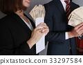 นักธุรกิจ,ม้วนธนบัตร,สูท 33297584