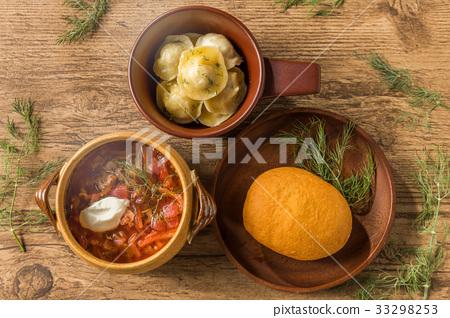 俄羅斯美食(Piroshki / Pelmeni / Borscht)piroshki和俄羅斯美食 33298253