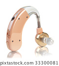 Hearing aid on white isolated background 33300081