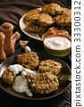 Turkey fritters with broccoli and leek  33300312