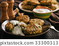 Turkey fritters with broccoli and leek  33300313