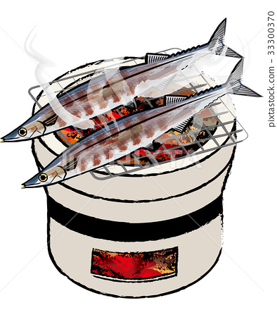 火盆 针鱼 烤鱼 33300370