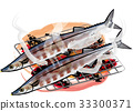 saury, grilled fish, the taste of autumn 33300371