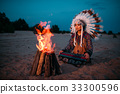indian, native, costume 33300596
