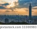 Taipei, Taiwan city skyline at sunset  33300983