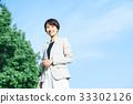 企业场面天空和大厦 33302126