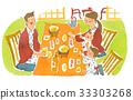家庭在客栈吃饭 33303268