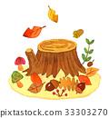 가을, 수채화, 수채 33303270