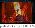 벽난로의 불길 Fireplace fire 33306174