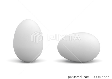 3d rendering of one lying and one standing white 33307727