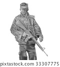Soldier engrave style-Vector Illustration 33307775