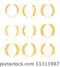 Gold laurel wreath - a symbol of the winner 33313907