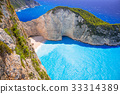 Beautiful Navagio Beach on Zakynthos, Greece 33314389