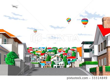 城市 住宅區 城鎮 33314849