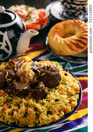 Pilaf- traditional asian dish, oriental style. 33314860