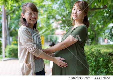懷孕足月 待產 即將臨盆 33317628